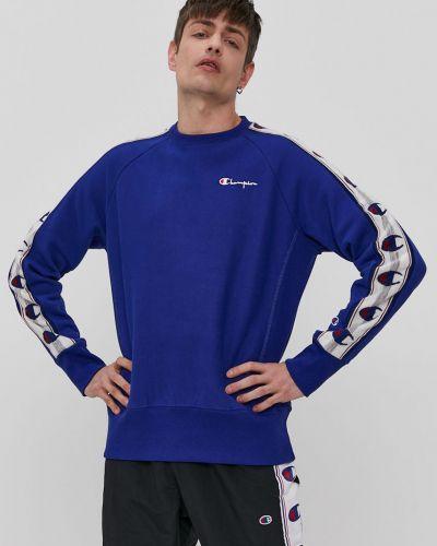 Niebieska bluza z kapturem bawełniana Champion