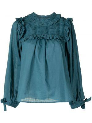Хлопковая блузка - синяя Sea