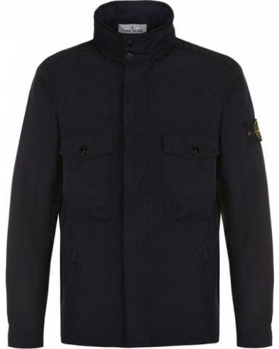 Куртка с воротником-стойкой однотонная из полиэстера Stone Island