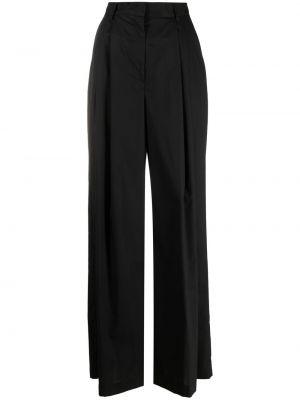 Черные с завышенной талией брюки свободного кроя Nude