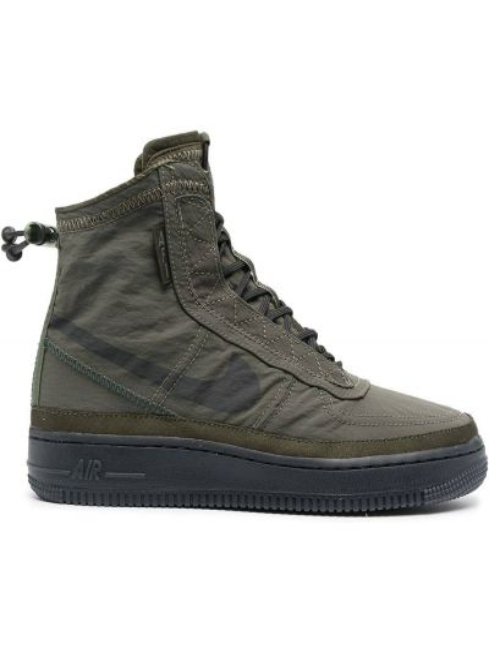 Koronkowa zielony włókienniczy wysoki sneakersy na sznurowadłach Nike