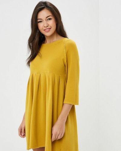 Платье осеннее желтый Art Love