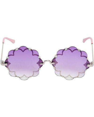 Fioletowy okulary przeciwsłoneczne metal Monnalisa