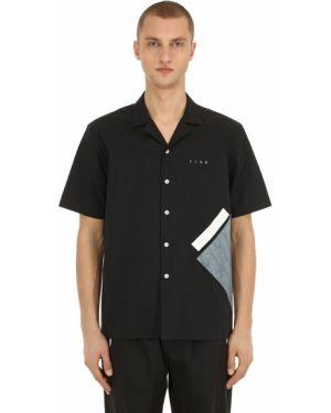 Czarna koszula krótki rękaw Iise