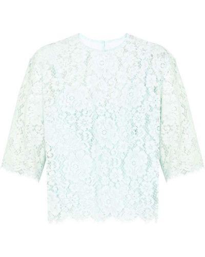 Синяя блузка с вышивкой из вискозы Dolce & Gabbana