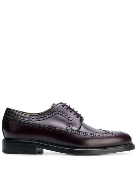Классические фиолетовые классические туфли на каблуке на шнурках Berwick Shoes