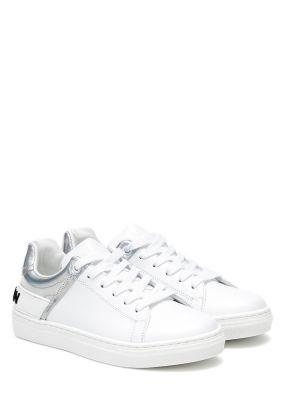 Sneakersy skórzany Balmain Kids