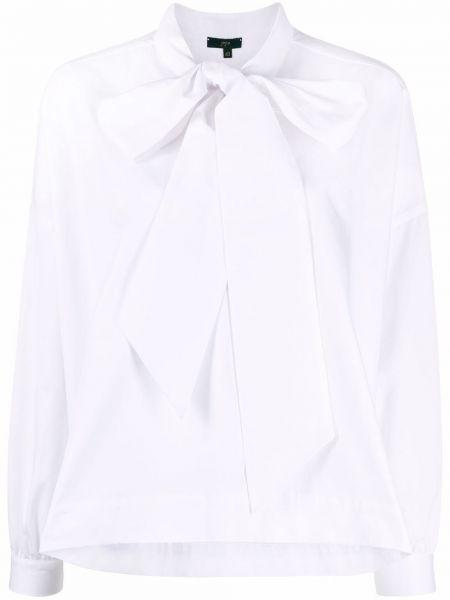 Белая блузка с воротником с длинными рукавами Jejia