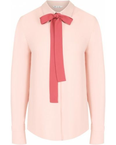 Блузка с бантом шелковая Loro Piana