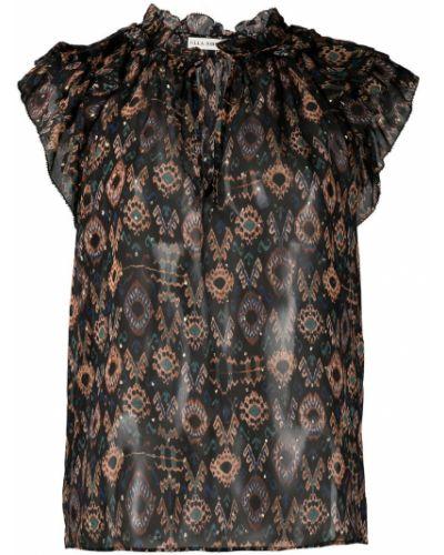 Шелковая блузка - черная Ulla Johnson