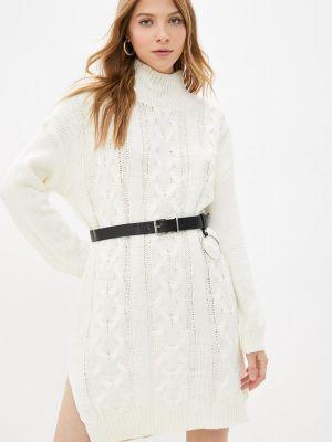 Белое вязаное платье Goldrai