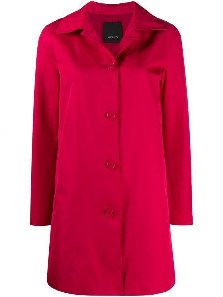 Długi płaszcz z kieszeniami z kołnierzem Pinko