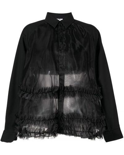 Шерстяная рубашка - черная Comme Des Garçons Noir Kei Ninomiya
