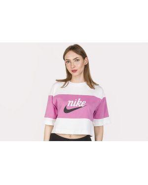 Różowe polo bawełniane oversize Nike