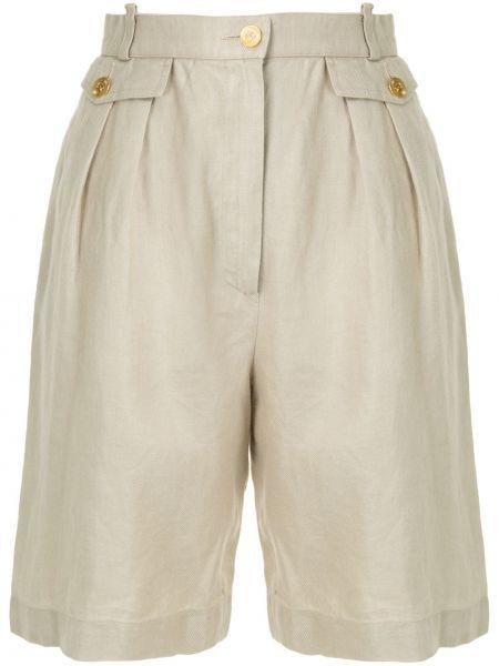 Плиссированные шорты со складками на пуговицах Chanel Pre-owned