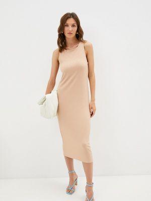 Бежевое платье-майка Trendyangel