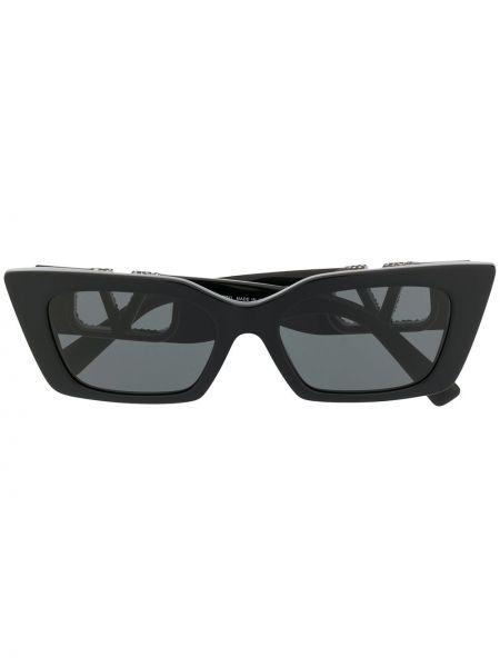 Муслиновые черные солнцезащитные очки Valentino Eyewear