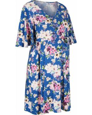 Летнее платье для беременных с поясом Bonprix
