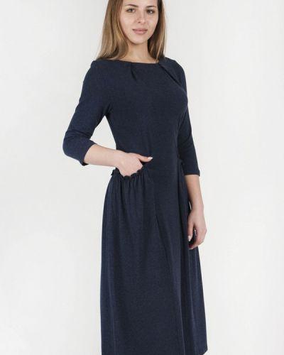 Повседневное платье осеннее синее Vergans