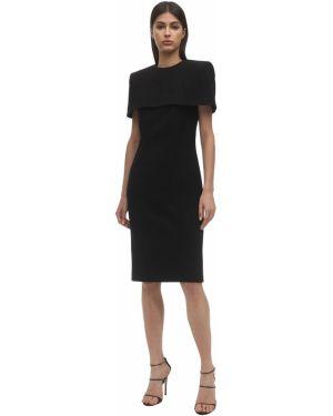 Платье миди из крепа шерстяное Givenchy