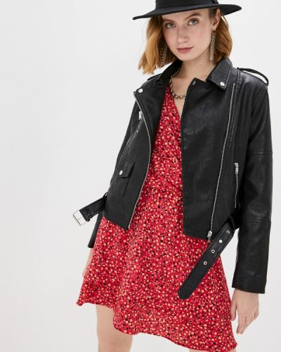 Черная утепленная куртка Izabella