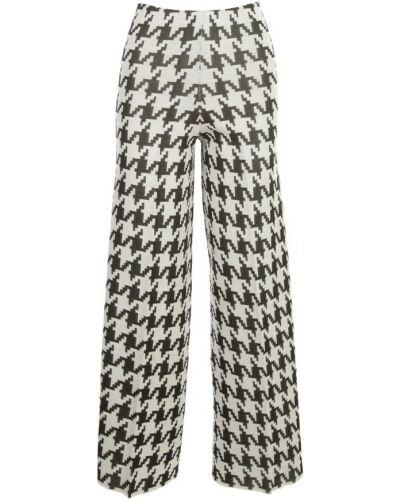 Białe spodnie z wysokim stanem Liviana Conti