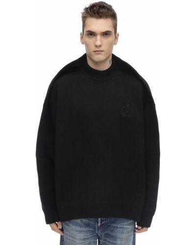 Czarny z kaszmiru sweter oversize Balenciaga