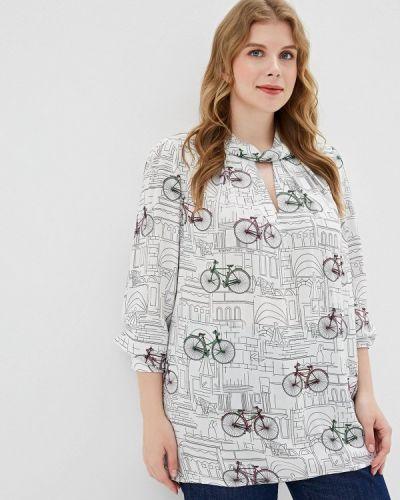 Блузка белая весенний Borboleta