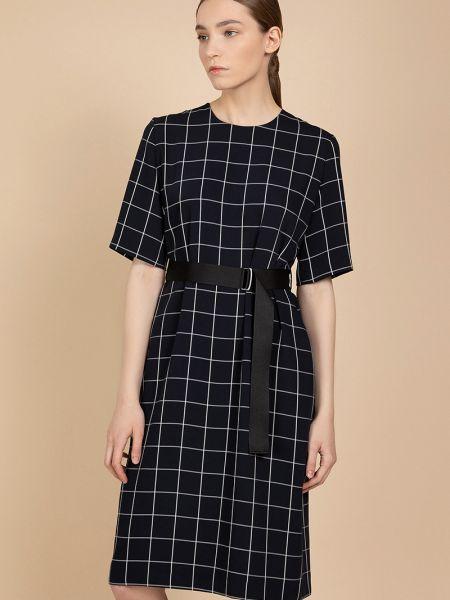 Платье с поясом из вискозы с рукавами Vassa&co