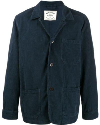Классическая фланелевая синяя длинная куртка Portuguese Flannel