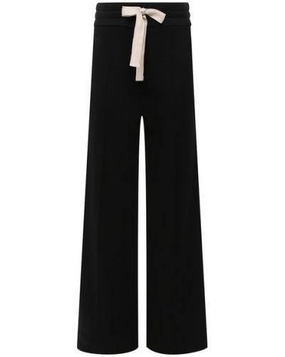 Кашемировые со стрелками черные брюки свободного кроя The Row