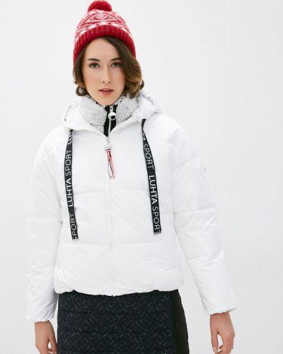 Утепленная белая куртка Luhta