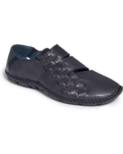 Синие кожаные сандалии с перфорацией Cosottinni