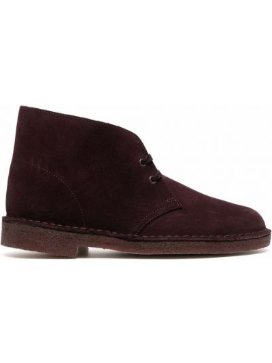 Фиолетовые ботинки на шнуровке Clarks Originals