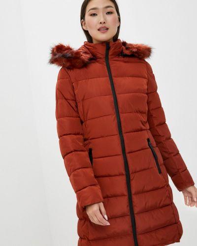 Коричневая теплая утепленная куртка Adrixx