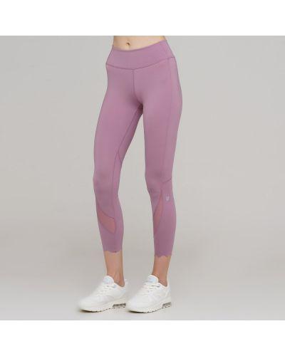 Облегающие розовые спортивные брюки с поясом Anta