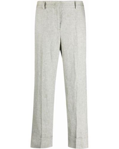 Прямые льняные укороченные брюки с карманами Incotex