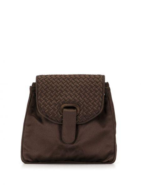 Шелковый коричневый рюкзак с карманами Bottega Veneta Pre-owned