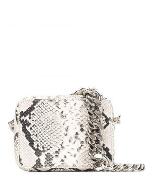 С ремешком белая косметичка прямоугольная металлическая Kara
