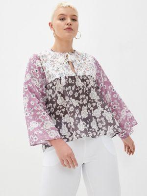 Фиолетовая блузка с длинными рукавами Violeta By Mango