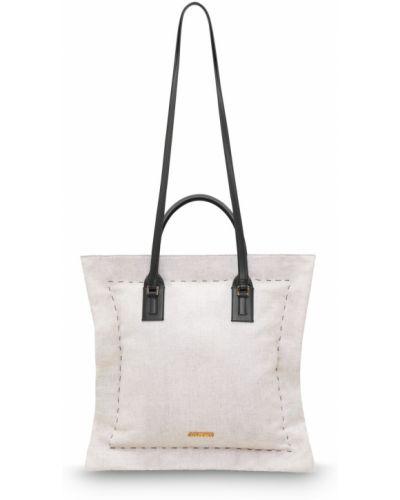 Хлопковая бежевая сумка Jacquemus