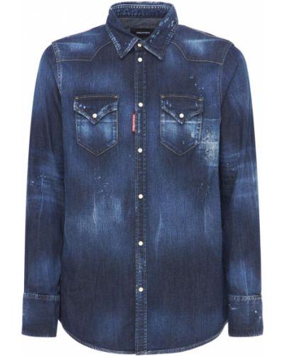 Niebieska koszula bawełniana Dsquared2