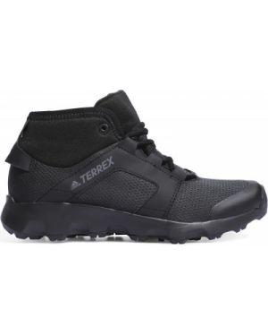 Зимние ботинки черные кожаные Adidas