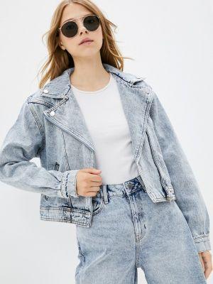 Голубая зимняя джинсовая куртка Ostin