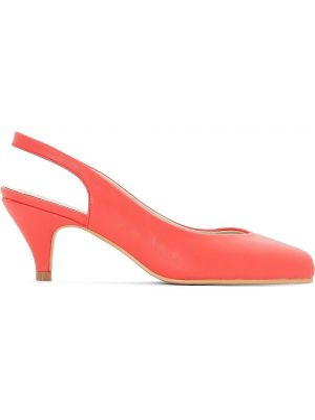 Кожаные туфли на каблуке на широкую ногу Castaluna