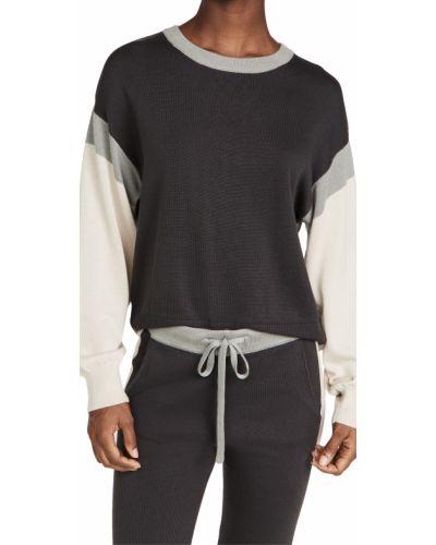 Sweter bawełniany - czarny Monrow
