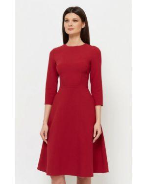 Платье миди бордовый красный A.karina