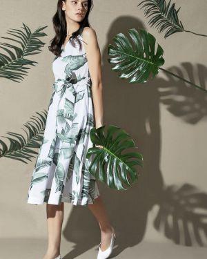 Платье с поясом с цветочным принтом через плечо Ostin