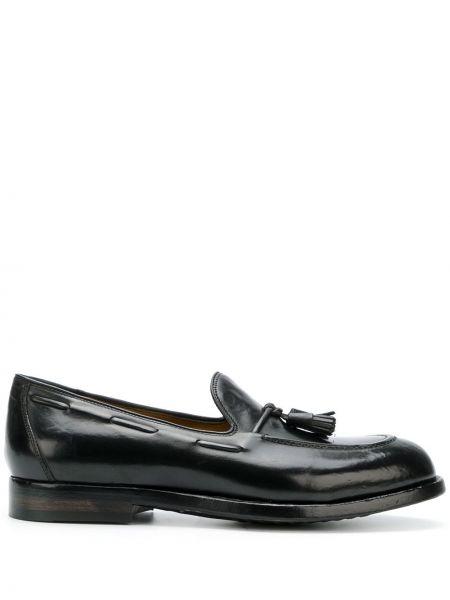 Skórzany czarny loafers Officine Creative