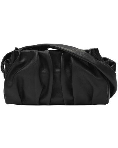 Czarna torba na ramię skórzana Elleme